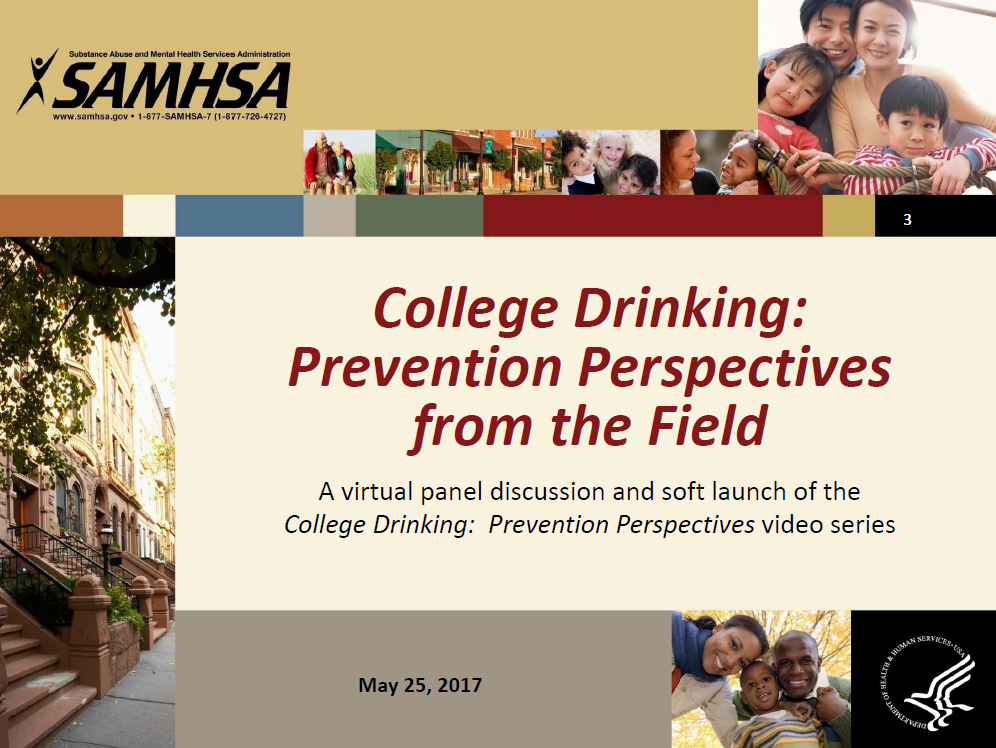 College Drinking: Prevention Perspectives Webinar